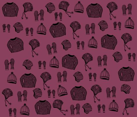 knitted warm fabric by flatfilestudios on Spoonflower - custom fabric