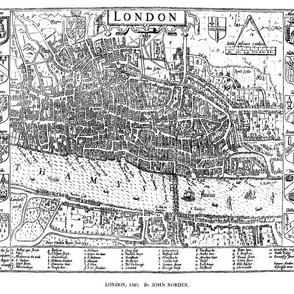 "1593 Map of London (21""W)"