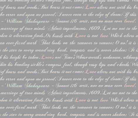 Sonnet 116 fabric by joyfulrose on Spoonflower - custom fabric