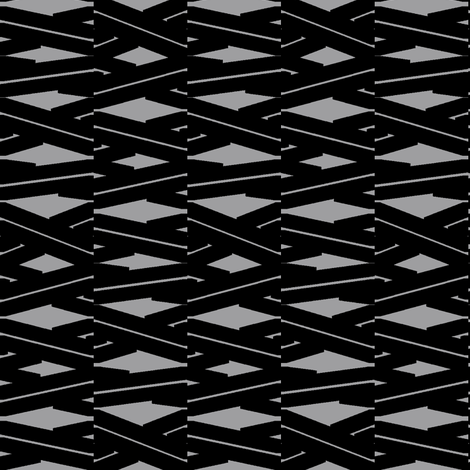 Cross Ribbon (Black) fabric by david_kent_collections on Spoonflower - custom fabric