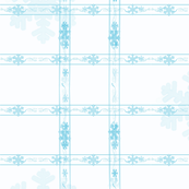 snowflake in blue