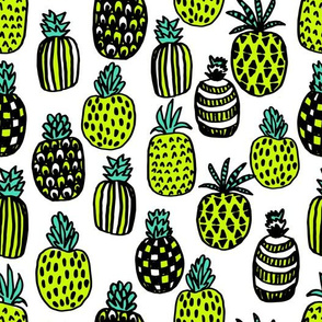 pineapples // cute trendy tropical girls pineapple summer print