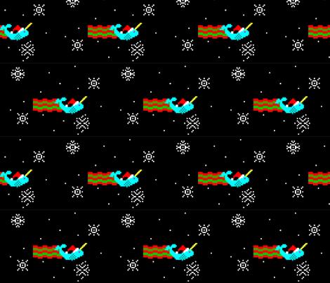 Nyanwhal Santa fabric by fentonslee on Spoonflower - custom fabric