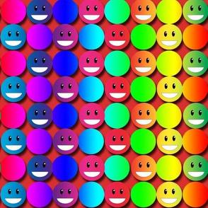 Double Rainbow Happy Polka Dots
