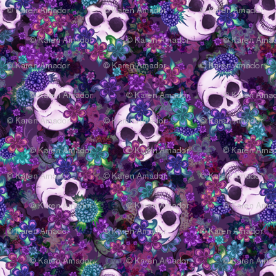 Flowers and Skulls