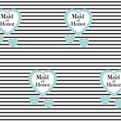 Blue Heart Black Stripes-Maid of Honor