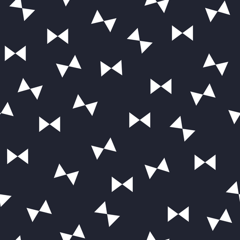 Bows on Navy fabric by armommy on Spoonflower - custom fabric