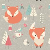 Christmas baby fox 01
