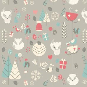 Christmas baby fox 03