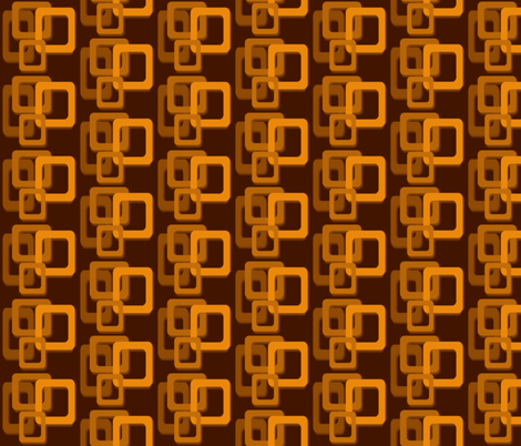 Orange and brown squares fabric by hollywood_royalty on Spoonflower - custom fabric