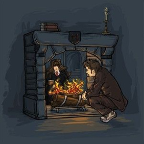 Witch in the Fireplace