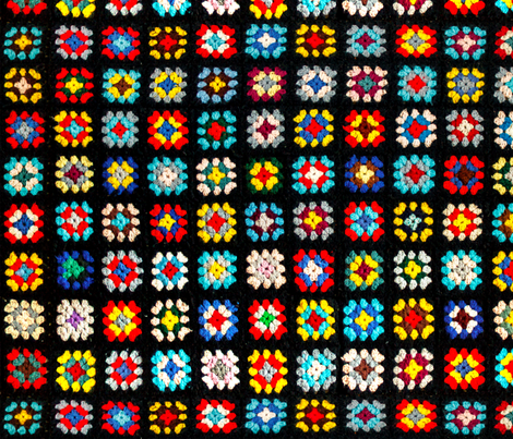 Vintage Granny Square Blanket fabric by lclarke522 on Spoonflower - custom fabric