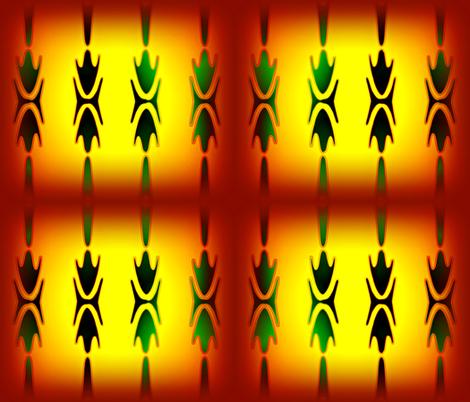red_yellow_seedpod-ed fabric by graylorax on Spoonflower - custom fabric