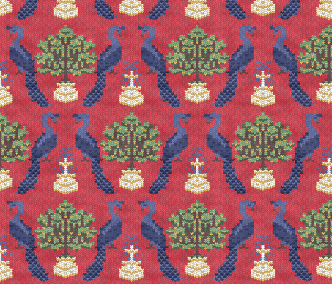 Knitted Paradise fabric by pond_ripple on Spoonflower - custom fabric