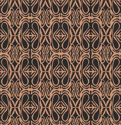 Modern_Sepik_black_brown fabric by malolo on Spoonflower - custom fabric