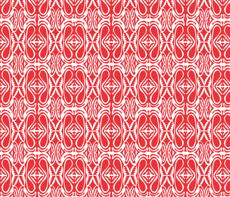 Modern_Sepik_red_white fabric by malolo on Spoonflower - custom fabric