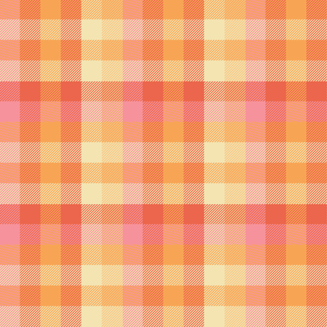 Madras plaid - creamsicle fabric by weavingmajor on Spoonflower - custom fabric