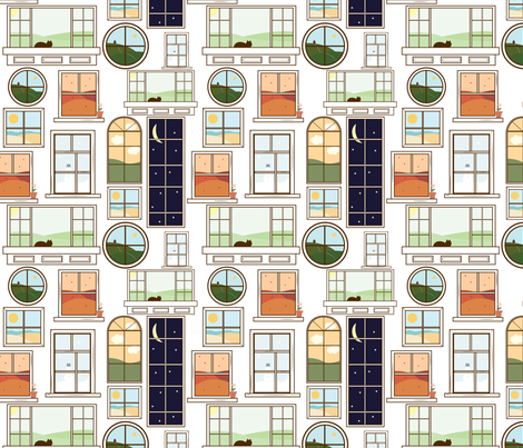 Windows fabric by svaeth on Spoonflower - custom fabric