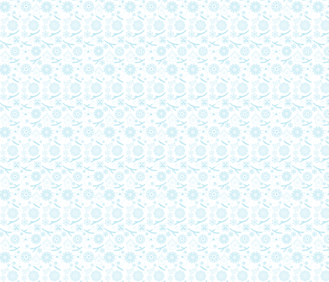 Blue on White Christmas fabric by puggy_bubbles on Spoonflower - custom fabric