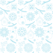 Blue on White Christmas
