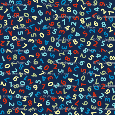 ditsy numbers on navy