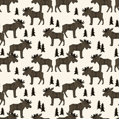 moose // canada boys outdoors camping north east boy scouts kids outdoors fabric by andrea_lauren on Spoonflower - custom fabric