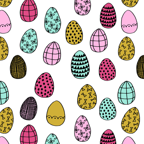 easter egg // bright nursery spring easter bunny fabric by andrea_lauren on Spoonflower - custom fabric