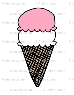 ice cream // pink nursery baby cut and sew plush pillow design