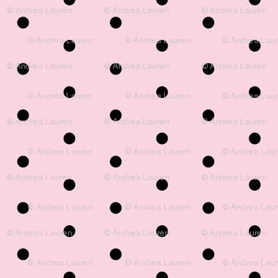 dots // pink and black sweet preppy polka dots little dots