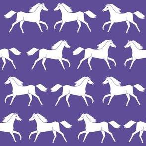 horses // girls purple horse farm animal print
