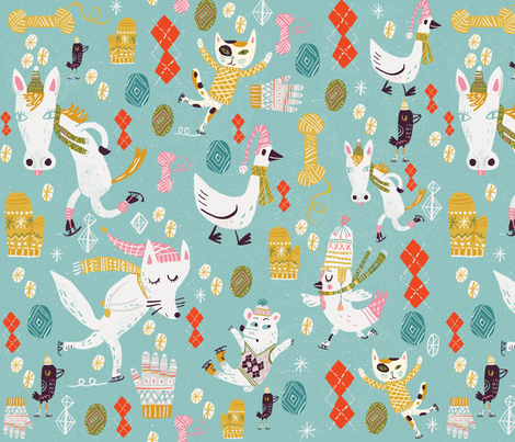 woolens fabric by skbird on Spoonflower - custom fabric