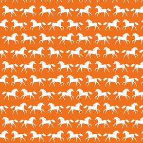 horse //  horses orange kids bright animal farm