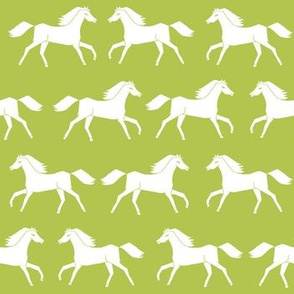 horses // lime green horse farm farmyard ranch horse kids animal