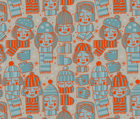 Knit and Huddle fabric by mariaspeyer on Spoonflower - custom fabric