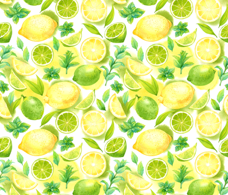 Citrus pattern fabric by achtung on Spoonflower - custom fabric