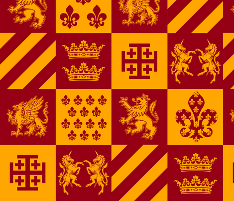 Our Royal Family V2 fabric by sssowers on Spoonflower - custom fabric
