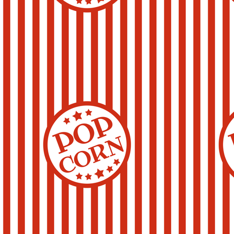"custom 3"" Pop Corn logos - small stripe fabric by weavingmajor on Spoonflower - custom fabric"