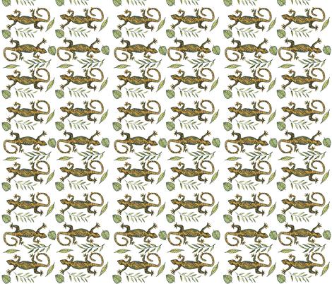 Lady Gecko fabric by annahedeklint on Spoonflower - custom fabric