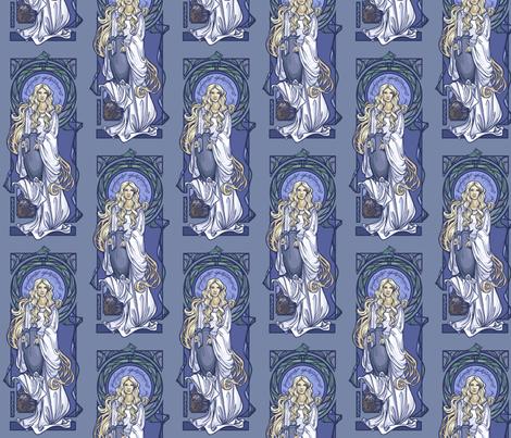 Galadriel Nouveau fabric by karenhallionart on Spoonflower - custom fabric