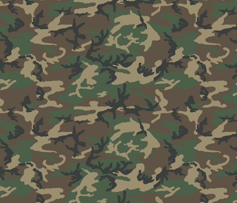 Half Scale M81 Woodland Camo fabric by ricraynor on Spoonflower - custom fabric
