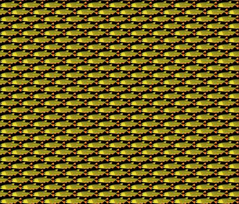 Golden Dorado with Black background fabric by combatfish on Spoonflower - custom fabric