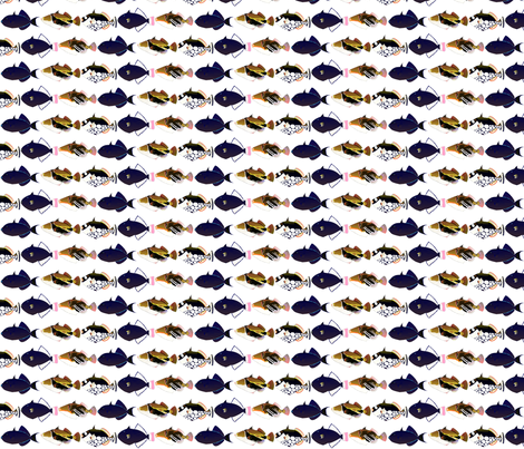 5 Tropical Pacific Triggerfish fabric by combatfish on Spoonflower - custom fabric