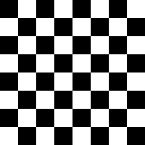 One Inch Black and White Checkered fabric by mtothefifthpower on Spoonflower - custom fabric