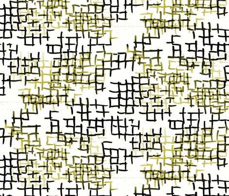 Olive check grid fabric by mrshervi on Spoonflower - custom fabric