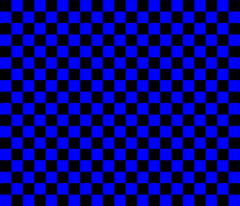 One Inch Black and Blue Checkered fabric by mtothefifthpower on Spoonflower - custom fabric