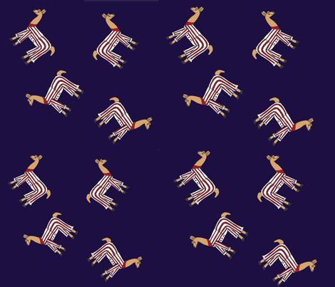 Llamas_in_pyjamas__blue fabric by amanda_jane_textiles on Spoonflower - custom fabric