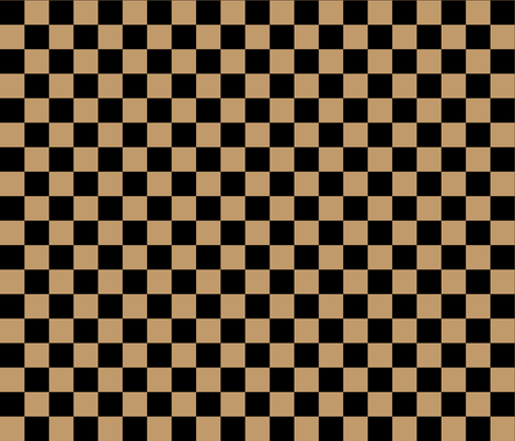 One Inch Black and Camel Brown Checkered fabric by mtothefifthpower on Spoonflower - custom fabric