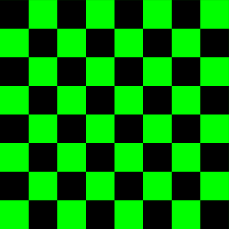 One Inch Black and Lime Green Checkered fabric by mtothefifthpower on Spoonflower - custom fabric