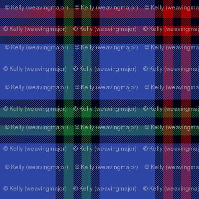 Montgomerie tartan -  red / green / true blue