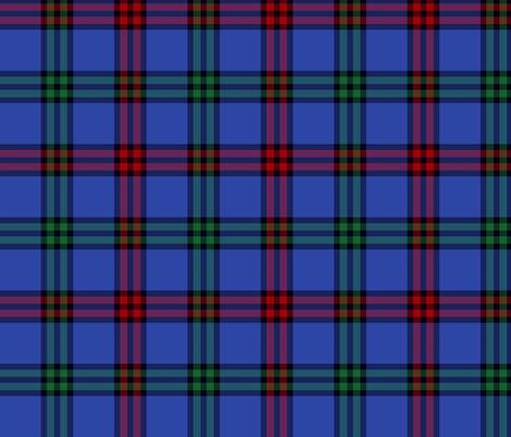 Montgomerie tartan -  red / green / true blue fabric by weavingmajor on Spoonflower - custom fabric